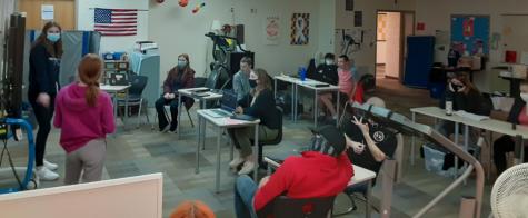 ASD mentoring students share their presentations.