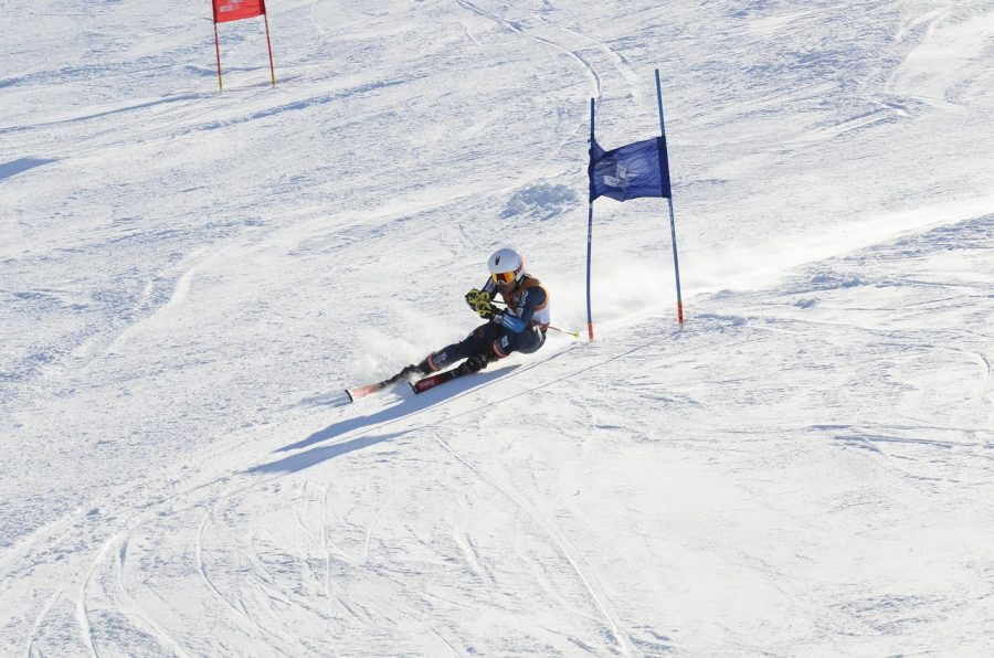 Lewandowski races down the ski hill during one of his many races. Photo Courtesy of A.Lewandowski
