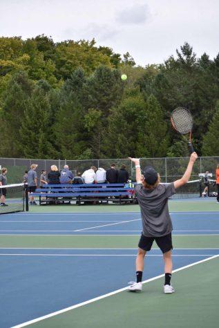 Junior Alex Alvarado, gets ready to hit a serve. Photo courtesy of A. Alvarado